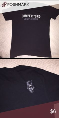 Competitors Graphic Tee Competitors competition graphic tee. Bear graphic on back shoulder. Good condition. Size large Shirts Tees - Short Sleeve
