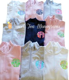 19f19573d5509c Womens Lilly Pulitzer Monogram Quarter Zip by SweetTeaMonograms (for me and  grace) Discount Nike