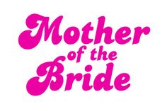 Mother of the Bride IronOn Transfer by onscreengraphics on Etsy, £2.00
