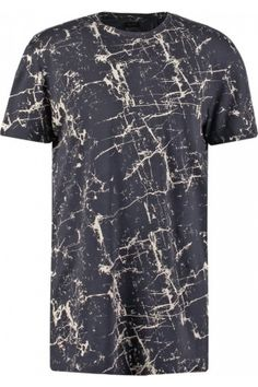 Hombre Camisetas - ADPTTRAX Camiseta print dark navy Camisa Tie Dye, Create T Shirt Design, High Fashion Men, Spring T Shirts, Custom Made T Shirts, Printed Polo Shirts, Matching Family Outfits, Casual Shirts For Men, Mens Tees