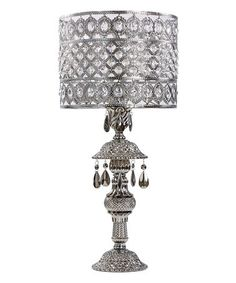 Another great find on #zulily! Chrome & Crystal Table Lamp #zulilyfinds