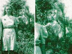 This is creepy ! The Wedding Day ghost photo, taken in 1942 in Jasper, Alabama. The picture was taken to commemorate the wedding day of the woman in the photo. This is one grumpy spirit. Ghost Images, Ghost Pictures, Ghost Pics, Spooky Places, Haunted Places, Haunted Houses, Creepy Stories, Ghost Stories, Ghost Hauntings
