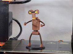 Roberto (Futurama) printed by Cipis, remix from ChaosCoreTech #mmu2  #toysandgames