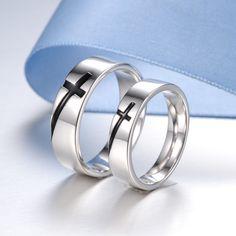 Cross Matching Tungsten Wedding Bands Set Pinterest Ring And Carbide