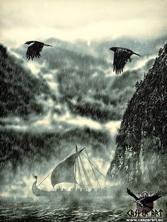 As the storm raged upon our Vessel our faithful Ravens sought safer passage for all.