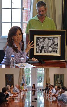 CFK recibió a sobrevivientes y familiares de víctimas del atentado contra la AMIA. La audiencia se realizó en la Residencia de Olivos, donde la Mandataria dialogó con los directivos de la Asociación 18J Familiares, Sobrevivientes y Amigos de las Víctimas del Atentado contra la AMIA.