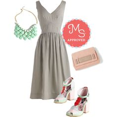 In this outfit: Date of the Art Dress, At the Last Minute Necklace in Mint, Stylista Sighting Bag, Icing On the Cupcake Heel #stripes #summer #spring #casual #cute #dresses #ModCloth #ModStylist #ootd #fashion