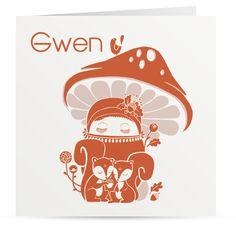 #geboortekaartje #babykaartje #meisje #eekhoorntjes