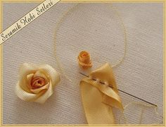 Ribbon Embroidery some picture tutorials-9.jpg                                                                                                                                                      More