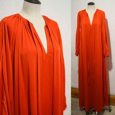 Vintage Red Maxi Caftan Gown Geoffrey Beene for Neiman Marcus 1970s 1980s by LomaPrietaVintage on Etsy https://www.etsy.com/listing/554925466/vintage-red-maxi-caftan-gown-geoffrey