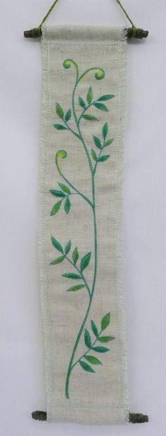 hanging no.6  needlework art Ⓒ Nagako Ono HAPPa_Ya #art #plants #hanging