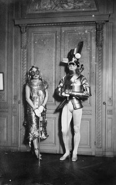 Man Ray. Sara and Gerald Murphy at a costume ball in Montparnasse. 1922.