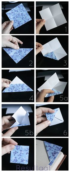 Origami for Everyone – From Beginner to Advanced – DIY Fan Paper Crafts Origami, Diy Origami, Origami Tutorial, Diy Paper, Paper Crafting, Diy Bookmarks, Origami Bookmark, Diy And Crafts, Crafts For Kids