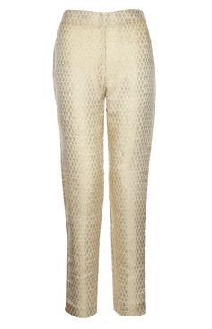 Use for kurtas and churidars too! Aab UK Brocade Trousers - Ivory : Standard view