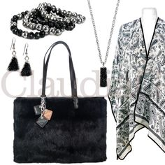LOOK 9, Black and Silver - ClaudiaG Collection