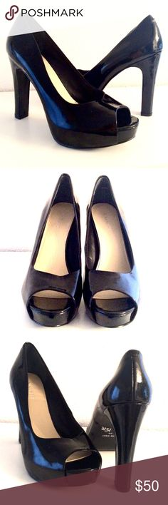 "Price ⬇️ Nine West Peep Toe Shoes. Nine West Peep Toe Shoes. Size 8 M. Heels 5"". Excellent Condition. Nine West Shoes Heels"