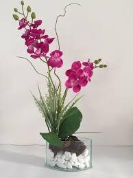 Resultado de imagen para vaso de vidro com orquidea