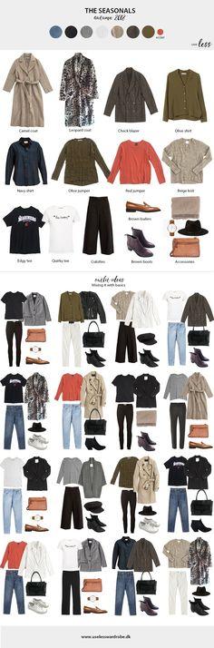Autumn capsule 2018. #season #seasonal #dressing #fashion #capsulewardrobe #overview #visual #minimal #minimalist #closet #scandi #scandinavian #use #less Capsule Wardrobe 2018, Capsule Outfits, Fashion Capsule, Winter Trends, Winter Wardrobe, Trendy Fashion, Fashion Outfits, Minimal Wardrobe, Minimalist Closet