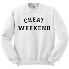 Cheat Weekend Crewneck Sweatshirt ($28) ❤ liked on Polyvore featuring tops, hoodies, sweatshirts, crew-neck tops, crew top, crew neck top, crewneck sweatshirt and crew-neck sweatshirts