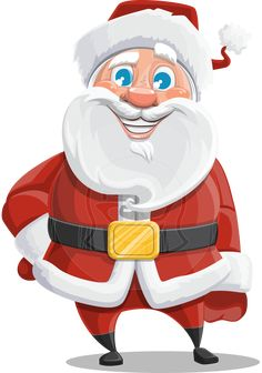 09bc1c7e Mr. Claus North-pole: a chubby Santa Claus vector cartoon character with  emblematic