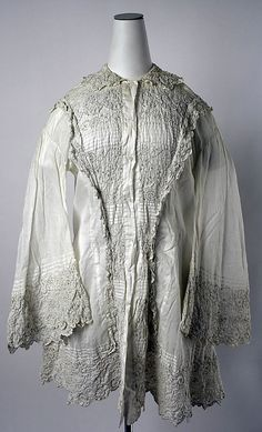 Dressing Jacket  Date: mid-19th century Culture: American or European Medium: cotton