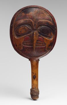 Rattle, ca. 1880  Queen Charlotte Islands, British Columbia; Haida or Tsimshian  Wood, string, pigment