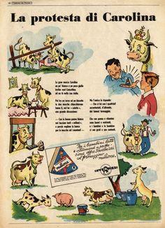 La pubblicità del formaggino Milione della Invernizzi in una immagine degli  anni  50 11d92bb148b