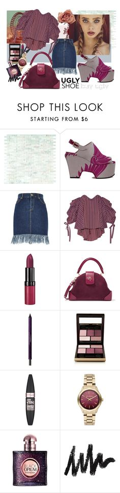 """""""Ugly (But Chic?!) Shoes 2"""" by bettyboopbbw69 ❤ liked on Polyvore featuring WALL, Dries Van Noten, Caroline Constas, Rimmel, MANU Atelier, By Terry, Kevyn Aucoin, Maybelline, Karl Lagerfeld and Yves Saint Laurent"""