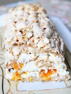 Classic budapest roll with hazelnuts and mandarins