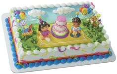 Dora the Explorer Birthday Celebration DecoSet® Cake