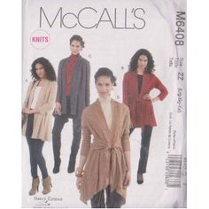 McCall's Patterns M6408 Misses' Jackets, Size ZZ (LRG-XLG-XXL)  by McCall Pattern Company