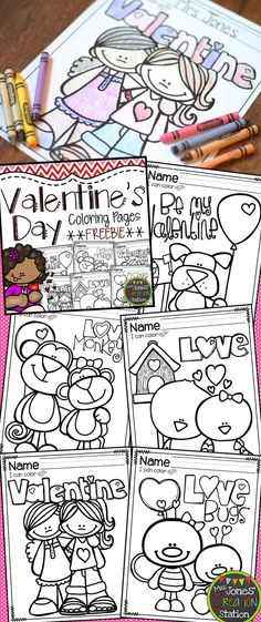 Mrs. Jones' Creation Station: Valentine's Day Coloring Pages {FREEBIE}