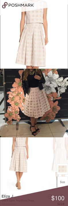 Eliza J two-piece set Blush two piece dress that can be worn separately! Worn the top once and the skirt a few times; recently pressed and dry cleaned 👌🏼 Eliza J Dresses Midi