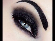 Sexy Vamp/Gothic makeup for Halloween Makeup Tutorial - Makeup Geek Gothic Eye Makeup, Punk Makeup, Dramatic Eye Makeup, Dramatic Eyes, Makeup Geek, Gothic Makeup Tutorial, Makeup Eyebrows, Eye Brows, Lip Makeup