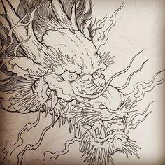 japanese tattoos for men Japanese Dragon Tattoos, Japanese Tattoo Art, Japanese Tattoo Designs, Japanese Art, Traditional Japanese Dragon, Japanese Prints, Hanya Tattoo, Asian Tattoos, Arabic Tattoos