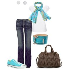 Pretty in Blue, created by nursejanna on Polyvore