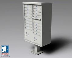"Cluster Box Units CBU-16-GRY 16 Door CBU, Gray by Cluster Box Units. $1075.78. USPS Approved centralized mail delivery equipment can be in the form of any ""clustered"" style of mailboxes, but the most popular is the free-standing, pedestal-mounted Cluster Box Unit (CBU) most often used in new outdoor construction installations. With up to 16 locked compartments plus up to four integrated parcel lockers and a secure outgoing slot convenient for mail collection, the pre..."