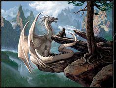 I love Raxtus Mythical Creatures Art, Mythological Creatures, Magical Creatures, Fantasy Wesen, Types Of Dragons, Dragon Artwork, Dragon Rider, Dragon Pictures, White Dragon