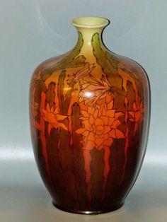 Antique CAC American Belleek Ceramic Art Company Hand Painted Flowers Vase Lenox