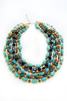 Claudia Tiered Beaded Necklace