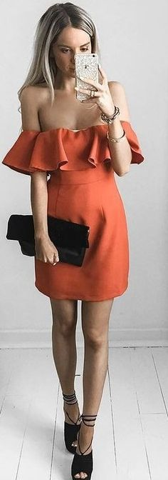 Orange Frills Little Dress Source
