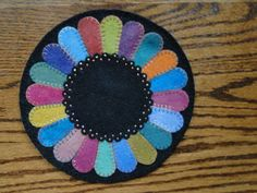 Dresden Wool Applique Pattern by yogybooboo on Etsy, $9.00
