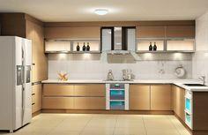 Light Coloured Contemporary Kitchen Cabinets Ipc182 - Modern Kitchen Design Ideas - Al Habib Panel Doors