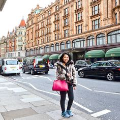 LOUIS VUITTON Brea MM in Epi leather bag | NIKE WMNS Pegasus 31 | KILLAH faux fur jacket | instagram: @quennandher | https://instagram.com/quennandher When in London, you go to @Harrods!!!