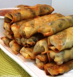 **substitute ground beef with ground turkey sage sausage(no taco seasoning required** - Crispy Mexican Egg rolls