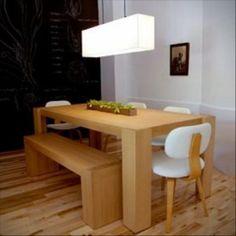 Merveilleux Dining Room Ceiling Light Design. See More. Gosto Da Ideia De Bancos Ao  Invés De Cadeiras... Modern Furniture, Dream