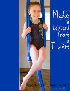 How to Make a Leotard from an Old T-Shirt great #tutorial