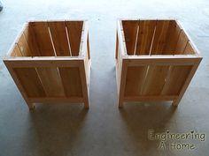 Pretty Front Porch: DIY Large Cedar Planter Boxes – Engineering A Home Planter Box Plans, Cedar Planter Box, Garden Planter Boxes, Diy Wooden Planters, Diy Planters Outdoor, Wooden Diy, Outdoor Wood Projects, Wood Shop Projects, Pallet Projects