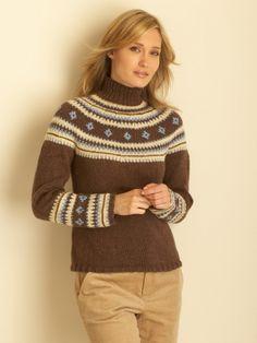 Fair Isle Yoke Pullover | Yarn | Free Knitting Patterns | Crochet Patterns | Yarnspirations