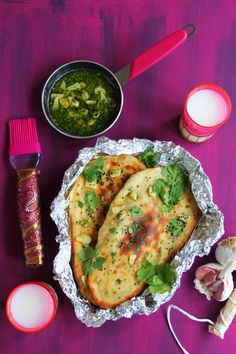 This Garlic and Coriander Naan recipe is the perfect accent to your next Indian meal.